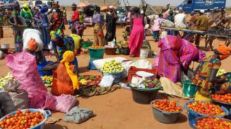 Matmarknad i Gambia