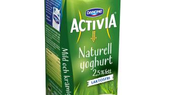 Magvänligare kan det inte bli! Nu lanseras Activia Naturell som laktosfri yoghurt i 1-litersförpackning