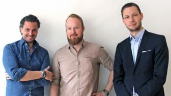 Marcus Carloni, Christian Kaunissaar & Daniel Sivertsson från Flowbox, fotograf Fredrik Lagergren