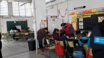 SOS Barnbyar i Diavatalägret i Grekland vintern 2017