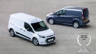 Nye Ford Transit Connect ble kåret til Årets Internasjonale Varebil 2014. Ford er første varebilprodusent som vinner prisen to år på rad