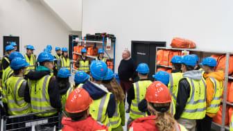 De studerende besøgte blandt andet Workshoppen, hvor ESVAGT selv producerer og vedligeholder deres både.