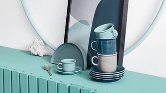 Viel mehr als nur klassisches Weiß: die neuen Thomas Trend Farben Midnight Blue, Moon Grey und Ice Blue.