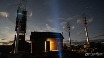 Basestasjonen ved Trollstigen har banebrytende, grønn teknologi. Foto: Eivind Bratteberg
