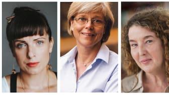 Nina Wähä (foto: Kajsa Göransson), Ingrid Carlberg (foto: Kajsa Göransson) och Anna-Karin Palm (foto: Ewa Stackelberg).