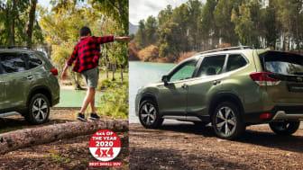 """Blandt de allerførste er de ansete medier """"What Car?"""" og """"4X4 Magazine"""". Foruden rosende testrapporter er Subaru Forester også blevet tildelt prestigefyldte udmærkelser."""