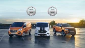 A díjnyertes Ford Transit PHEV és Ford Ranger