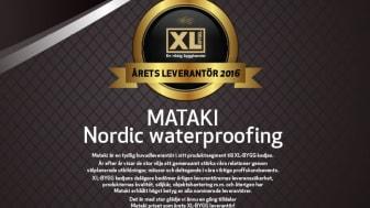 Årets XL-BYGG leverantör 2016 är Nordic Waterproofing (MATAKI)