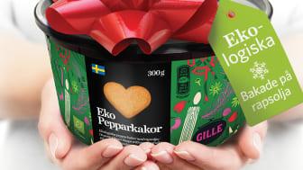 Gille Eko Pepparkakshjärtan blev årets storsäljande nyhet 2015 - nu kommer Gille Ekologiska pepparkaksdeg.