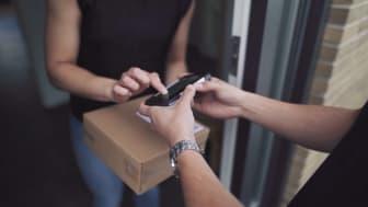Kvittering på håndscanner ved levering