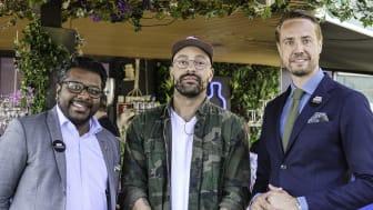 Clarion Hotel Sign - Rooftop Garden Bar - David, Ricardo, Henrik