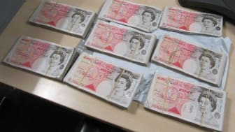 Op Veneer some of the cash seized by HMRC