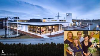 Bavaria kåret til Årets Markedsfører i Stavanger (f.v. Solfrid Flateby, Sissel Wiedenmann, Svein Å.Strøm, Elisabeth Kruiderink og Jone Hana)