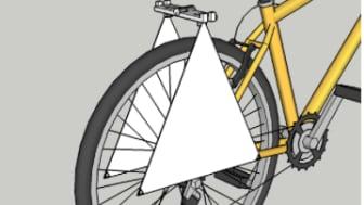 Tegning af opfindelsen: Bagagekrog til bæreposer med skærme af stof.
