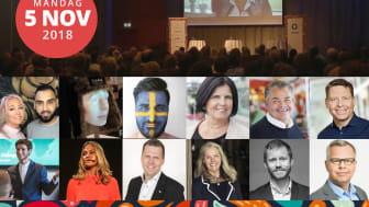Den fördomsfria AI-roboten Tengai, en av Sveriges topp 100 mest populära föreläsare och förändringsbyrån Futerra är några av de som står på scen på årets Opportunity Day.
