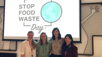 F. v: Julie Aasheim, Mette Nygård Havre, Kristine Ullaland og og Maria Williams inspirerte på Stop Food Waste Day-frokostmøte på Media City Bergen