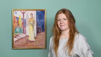 """Et av de mange digitale tilbudene på MUNCH Tøyen i sommer er blant annet omvisning av utstillingen """"På vei ut - Edvard Munch og naturen"""" med kurator Trine Otte Bak Nielsen"""