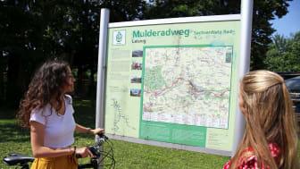 Mulderadweg bei Leisnig - Informationstafel