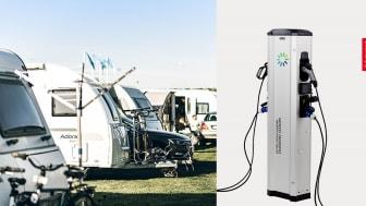 GARO lanserar första stolpen med eluttag för både elbilsladdning och camping.