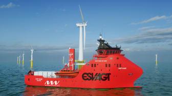 ESVAGT Service Operation Vessel to support MHI Vestas Offshore Wind in the Deutsche Bucht Wind Farm project.