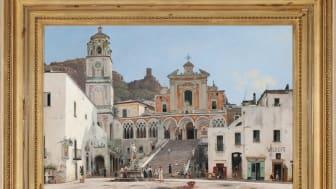 """Martinus Rørbyes """"Parti fra Torvet i Amalfi"""" fra 1835 blev her til aften solgt for 3.000.000 kr. Det anses som et guldalderhovedværk og kan fremover ses på Statens Museum for Kunst i København."""
