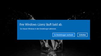 Ihre Windows-Lizenz läuft bald ab