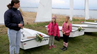 Auch die Jüngsten hatten die große Ehre, Boote zu taufen