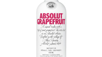 Absolut lanserar ny smak: Absolut Grapefruit