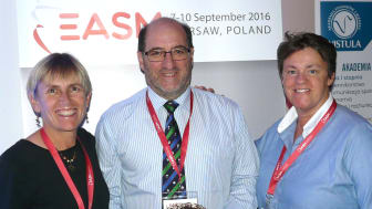 L-R: Prof. Karen Danylchuk (new WASM President); Dr Paul Johnson (outgoing WASM President) and Northumbria University's Dr Ruth Crabtree (new WASM Vice-President)