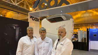 From left: Woodfin, Pitt & Livingston on the Cox booth at the International Workboat Show