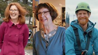 Gunilla Finnson, Maria Hårdberg och Eric Lennerman är några av de bofluencers som Fastighetsägarna Service har träffat.