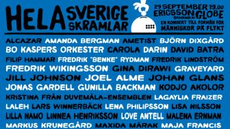 Historisk TV-samsändning för slutsålda Hela Sverige skramlar!