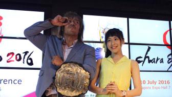 Tetsuya Naito and Sora Tokui