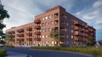 Maria station, kv Guldgubben, Riksbyggen