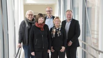 Norconsult overtar Heyerdahl Arkitekter. Fra venstre:  Birger Heyerdahl, Ilse Hofland, Sigurd Rugsland, Kate Holm og Bård S. Hernes. (Foto Norconsult)