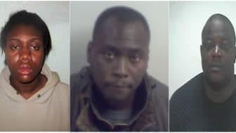 NAT 11.17 - Data theft tax credits fraudsters (L-R) Oyebode, E Odeyemi, Sanni, Gumbs