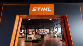 Bild från STIHL Concept Store i Benelux. Konceptbutiken hos Gårdsman, Jönköping, blir nära 200 kvm och riktar sig mot både trädgårdsintresserade villaägare och yrkesverksamma inom skog, grönytor och trädgård.