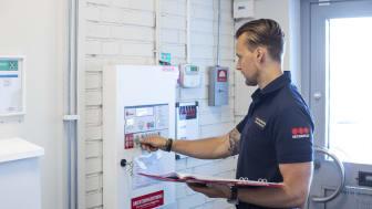 NU ska Humanas 16 000 medarbetare i Sverige genomgå brandutbildningar i Securitas regi. Foto: Securitas Sverige AB.