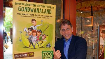 Thorsten Wolf, Direktor der Leipziger Funzel, freut sich auf ein volles Haus zum Sommerkabarett im Zoo Leipzig