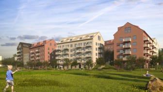 Detaljplan för Riksbyggens 300 bostäder i Skärholmen vinner laga kraft