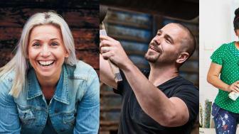 Tina, Björn och Anna är årets stora profiler på Bomässan. Foto: Lennart Weibull och Compass Fairs
