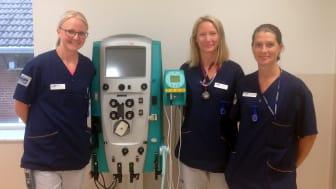 Dialysteamet i Helsingborg består av veterinärerna Marie Göransson och Linda Helsmo samt djursjukskötaren Annelie Johansson.