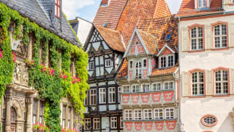 Timber framing houses Quedlinburg old town, Germany; © iStock; F: Mije_shots