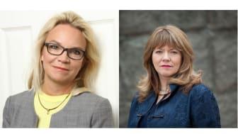 Charlotte Broberg (M), fastighets- och serviceregionråd och Susanne Nordling (M), ordförande i psykiatriberedningen i Region Stockholm.