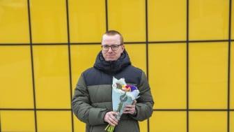 Emil Fridolfsson, årets mottagare av Linnéstipendiet. Fotograf: Linnéuniversitetet