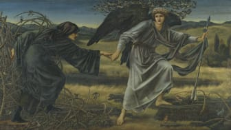 Edward Burne-Jones, Love and the Pilgrim, 1896-7, Oil paint on canvas, 157,5 x 304, 8 cm, © Tate, London, 2019