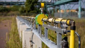 Pressereise Bitterfeld-Leuna / Überirdische Wasserstoffleitung im HYPOS H2-Netz