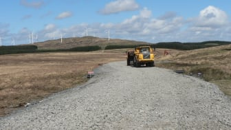 The access road crossed over an area of very soft peat bog.