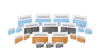 Förbättrad prestanda i ny serie minneskort från Samsung