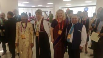 Bild: Susanna Ståhl tillsammans med andra delegater.